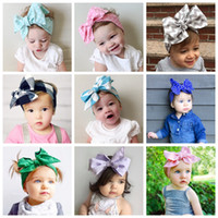 Baby Cute Cotton Hair Bands Pure Color Bowknot Design Headwr...