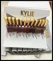 Newset Kylie 12 pc Set Lipstick édition limitée Rouge à lèvres 12pcs set Matte Liquid Lipgloss Lips Makeup