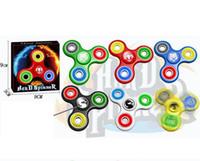 EDC Fidget Spinner main Spinner plastique doigt doigt Gyro Handspinner Fidget Toys EDC Décompression Toy Spinning Top OOA1369
