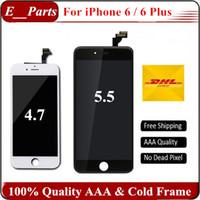 Pour iPhone 6 iPhone 6 Plus Écran LCD Touch Digitizer Écran complet avec cadre Remplacement complet de l'assemblage 10.2.1 IOS