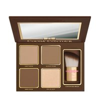 (Em estoque) - COCOA Contour Kit 4 cores Bronzers Highlighters Powder Palette Nude Color Shimmer Stick Cosméticos Chocolate Shadow Shadow