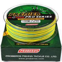 12box / 1200m 4 серии 0.6 # -8,0 # Разноцветный Супер Сильный Плетеный Multifilament лески 8-80LB кос лески PE линия