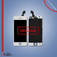 Pour l'original LCD blanc écran tactile numériseur Full Assembly pour iPhone 5S pièces de rechange de réparation Livraison gratuite