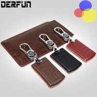 For Cadillac XTS SRX CTS 5 Botton Leather Key Case Cover Lea...