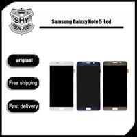 Écran LCD d'origine pour Samsung Galaxy Note 5 N9200 N920A N920T N920V écran LCD N920P et digitizer écran tactile Panels