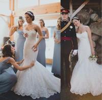 Elegant vestido de novia Lace Mermaid Wedidng Dress 2017 Str...