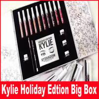 Кайли Косметика Праздник Коллекция Big Box Международный праздник Коллекция большая коробка праздник коробка для подарка Кристмас DHL