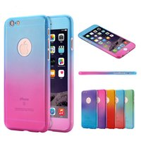three in one Gradient Phone Case For Apple iPhone 6 Fashion ...