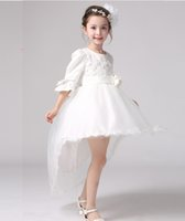 2016 wedding dress for kids lace flower pageant dresses Hi- L...
