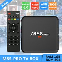 New M8S PRO Android TV Box with LED Display Amlogic S905X An...
