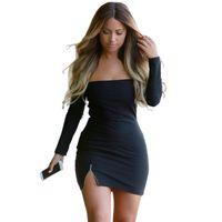 10pieces Black White Blue Summer Sexy Club dress Long- Sleeve...