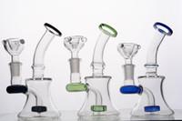 Embouchure colorée Mini bongs en verre avec perc diffusé 6 pouces de fumée à la main pipe dab plates-formes avec joint de 14 mm