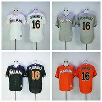 Hot Sale 16 Jose Fernandez Jersey Miami Marlins Baseball Jer...