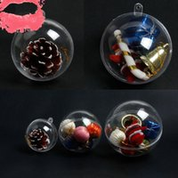 Christmas Transparent Hanging Ball Xmas Tree Bauble Clear Pl...