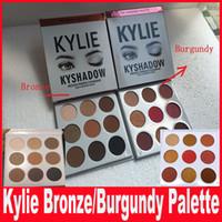 Дженнер Бронзовый / Burgundy Kyshadow отжатый порошок Eyeshadow Kit 9 цветов палитры теней В НАЛИЧИИ