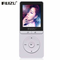 Vente en gros Original RUIZU X20 Portable Audio numérique HIFI 8G Mp3 Music Player avec affichage à cristaux liquides Radio FM Louderspeaker Enregistreur vocal E Book