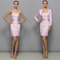 Pink Plus Size Mother Of The Bride Dresses With Jacket Sheat...