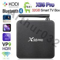 3GB 32GB X98 Pro Android 6.0 caixa de TV Amlogic S912 Octa Core Mini PC Smart Media Player BT4.0 dupla Wifi BT4.0 4K H.265 KODi Gigabit A95X CSA93