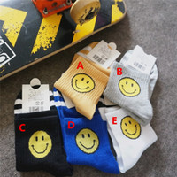 Hot Sale Fashion Sports Smiling face adult Socks Casual Cott...