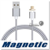 Câble de chargement magnétique de qualité supérieure Câble de chargement de micro USB Câble de chargeur nylon haute vitesse tressé 3.3ft 1M pour Android Samsung