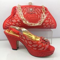 African women shoes red color my lady Italian shoes and bag ...
