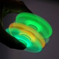 Luminous Hand Spinner Toy EDC ABS Fidget Spinner Toy Plastic Finger Hand Tri Spinner Décompression Toy OOA1492