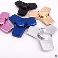 5 cores New Fidget Spinner HandSpinner Finger EDC brinquedo para ansiedade de descompressão 100% liga de alumínio Brinquedos CCA5688 100pcs