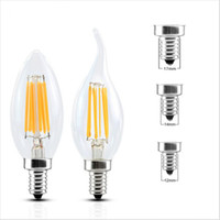 LED Candle Lamp C35 C35T COB filament bulb chandelier 2700K ...