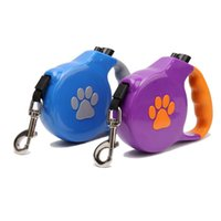 5M 50KG Paws Printed Dogs Leashes Automatic Pet Lead Leash F...