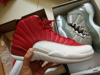 """DHL Shipping retro 12 """" Gym Red"""" 130690- 600 With Re..."""