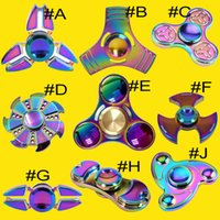 Rainbow Fidget Spinner Colorful EDC Gyro Toys Hand Spinner Fidget Aluminium Fidget HandSpinner Professionnel Factory Direct Sales OTH395