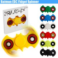 2017 La plus récente Fidget à main Spinner Batman EDC Handspinner Finger Spinners Acrylique Plastique Jouet Adultes Anti Stress décompression anxiété Toy DHL