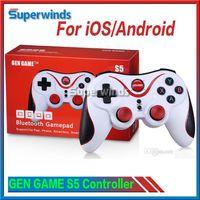 GEN GAME S5 Contrôleur de jeu sans fil Bluetooth Gamepad Joystick pour IOS iPhone iPad Téléphone intelligent Android Smart TV VR Box Gratuit DHL