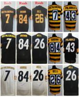 2017 Rush Legend Black Jersey Elite 84 Antonio Brown 7 Ben R...