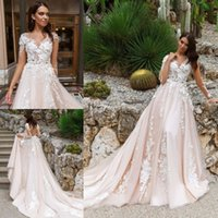Crystaldesing Vintage Wedding Dresses Lace Applique Wedding ...
