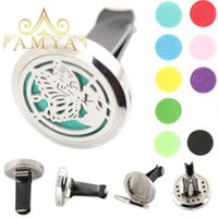 AMYA Silver Butterfly 30mm Diffuseur 316 Acier Inoxydable Aroma Locket Huile Essentielle Car Diffuseur Lockets Free Pads