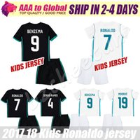 Kids Ronaldo Jersey 2018 Enfants Modric Bezema Isco Bale chemises de football Madrid kid soccer jerseys 17 18 Young Asensio soccer set