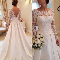 2017 Custom New White Ivory A- line Elegant 2016 Bridal cheap...