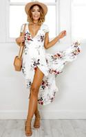 New Arrival Woman Clothing V Neck Summer Beach Long Maxi Dre...