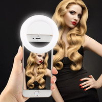 LED selfie anneau lumière selfie flash avec câble rechargeable clip-on lampe réglable selife fill-light RK14 pour les téléphones intelligents universels