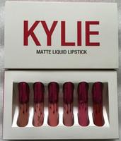 La plus récente collection de valentines Kylie lèvres lustré rouge à lèvres maquillage kylie Jenner lèvre kits mat lèvres lipgloss liquide un ensemble 6 pcs = 6 Couleurs