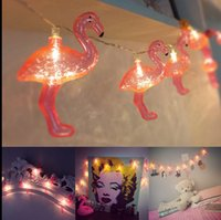 Фламинго светодиодные лампы свет шнура батареи Opetated Идеальный Крытый наружного освещения Струны Коммерческая Декор Свет KKA1171