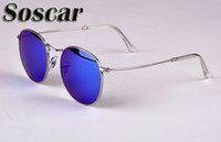 Round Metal Sunglasses Retro Style Sunglasses for Men Women ...
