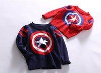 2016 Autumn Children Girls Boys Navy Captain America Long Sl...