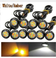 10Pairs 23MM Dual- Color Switchback 5730 4LED DRL Driving Bul...