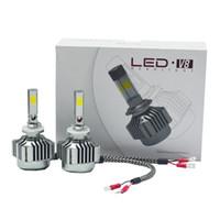 H10 LED Headlight Kit 4 Side COB Single Beam High Low Kit Hi...