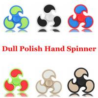 Dull Polaco HandSpinner Puntas de los dedos Espiral Dedos Gyro Torqbar Rueda caliente Fidget Spinner Fidgets Juguetes Descompresión Juguetes 6 Colores 200 OOA1520