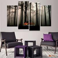 5 Панели Современные отпечатки на холсте Картины Ландшафт Картины Высокое качество изображения HD печати Картина Wall Art Picture For Living Room Decor