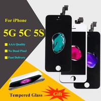 IPhone 5 5G 5C 5S Ecran LCD 1 pcs AAA de qualité supérieure Pas de tache avec écran tactile Composant de numériseur avec protecteur d'écran gratuit