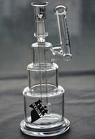 Hitman Bongs en verre base solide Brilliance Cake water Pipe Dab Plateaux avec dôme et clou 14 mm joint